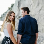 Romantic Engagement Session at Scarborough Bluffs