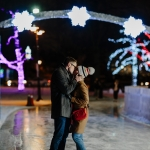 Winter Skating Engagement Session at Gage Park, Brampton